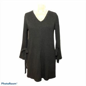 Anthro Everly Knit Tunic Dress Black Size Small